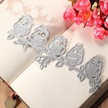 KiWarm Cute Owl Cutting Dies Stencil Template for Scrapbooking Album Photo Diary Paper Card Crafts Embossing Art Painting Decor(China (Mainland))
