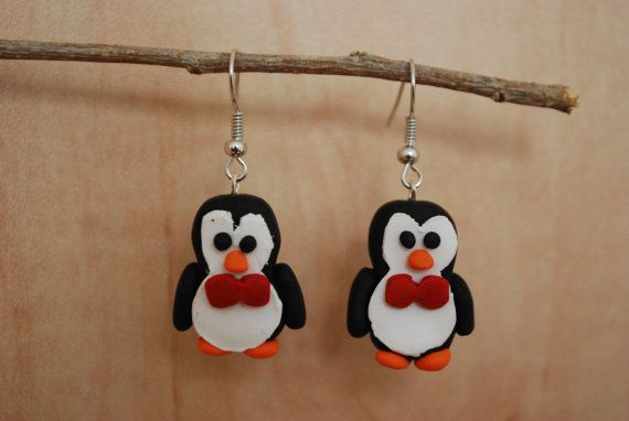 Dapper Penguins by CoolMooseJewelry on Etsy