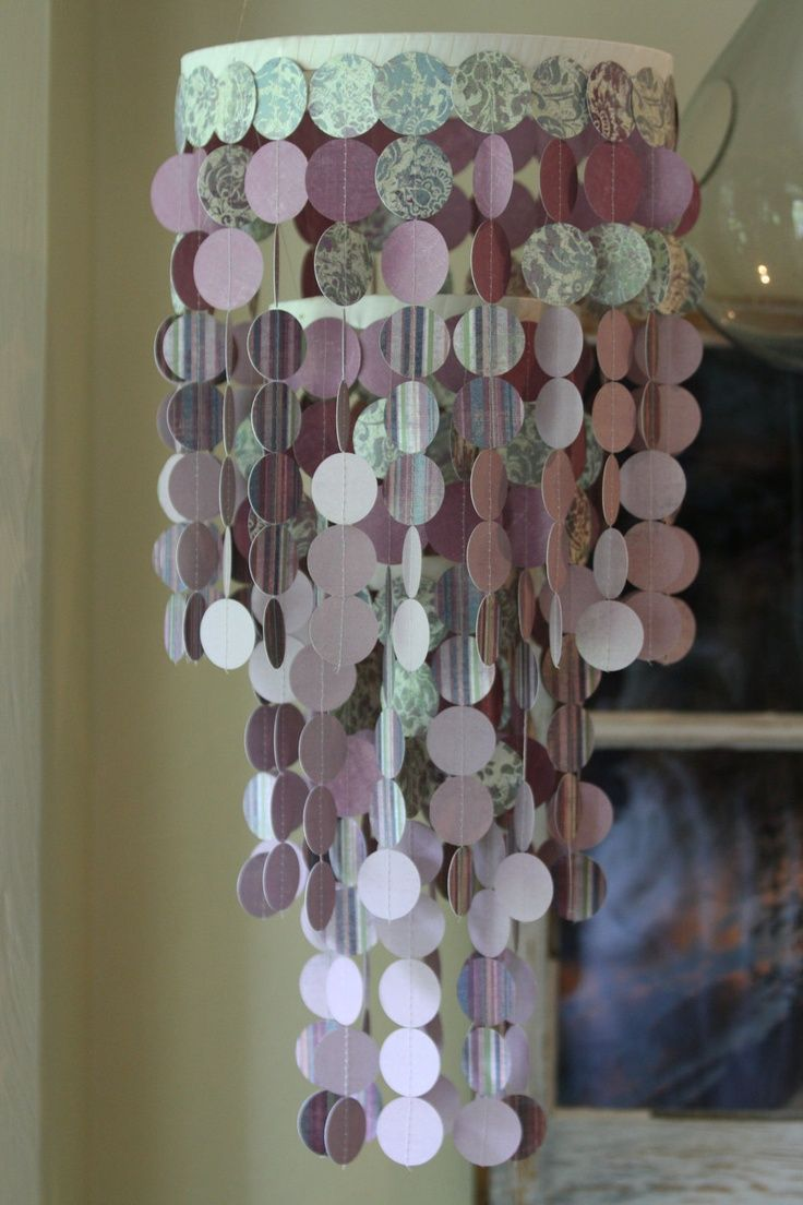 Ready to ship paper chandelier/ mobile.   Beautiful for weddings, nurseries, or party decorations.. $45.00, via Etsy.