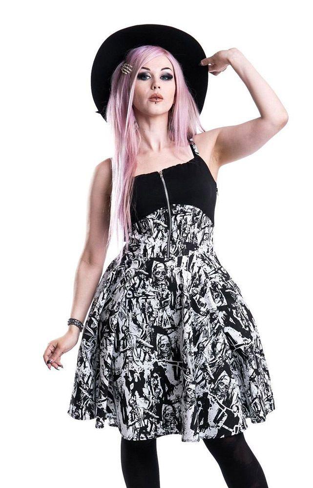 Heartless Clothing Walking Dead Walker Zombie Dress Daryl Dixon Goth Emo | eBay