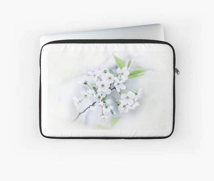White cherry blossoms. photo, photography, artwork, buy, sale, gift ideas, redbubble, cherry, cherry blossoms, freshness, green leaves, spring flowers, spring trees, tenderness, white flowers, white petals, young, springtime, spring, apple, macbook, case, cover, gadgets, skin, sleeve