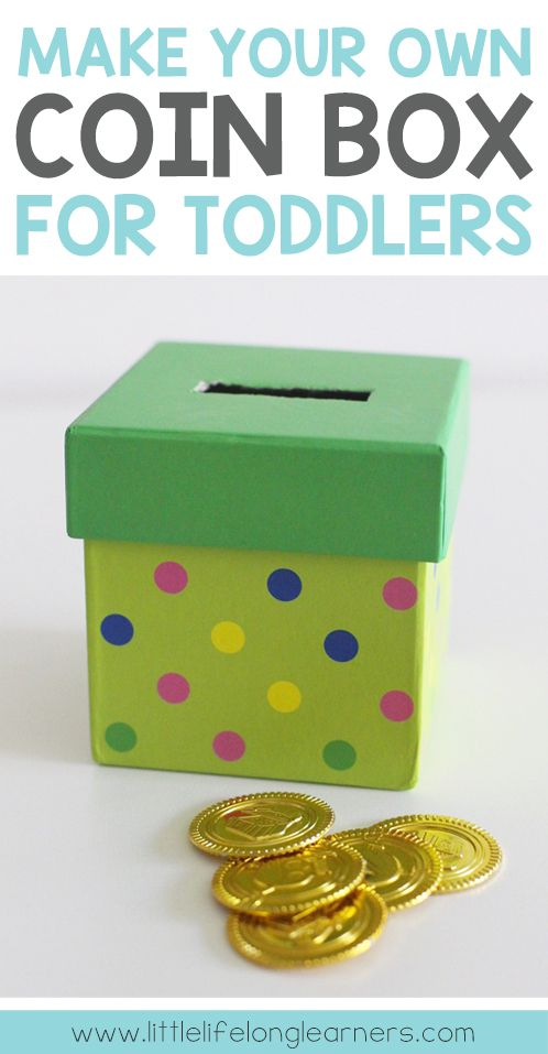 DIY coin box for toddlers and babies   object permanence   montessori toy   make your own toys  