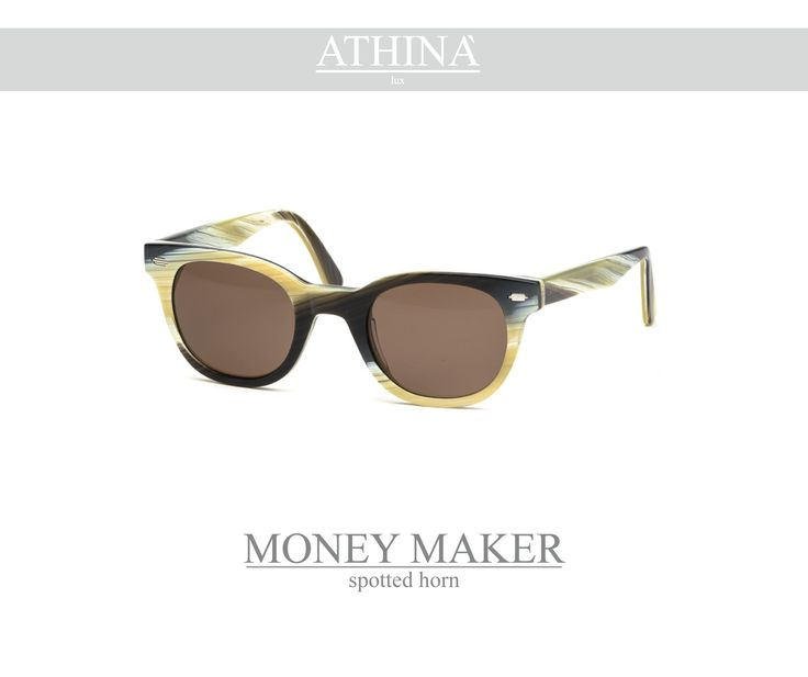 Mod. MM0808S03 Vintage frame per excellence, resistant, unique of its kind, completely made in acetate of cellulose. It has standar brown lenses.