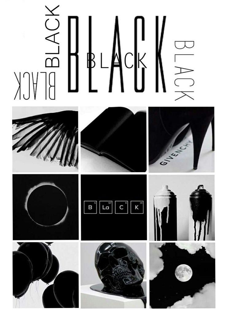 Moodboard project. Black