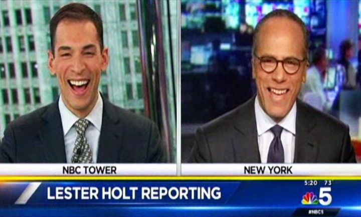 """Hi Dad!"": Lester Holt and His son Stefan Share a Sweet On-Air Moment During the Nightly News"