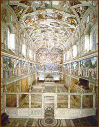 interieur Sixtijnse kapel, gezien naar het altaar