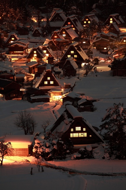 The Historic Villages of Shirakawa-gō ; Shirakawago ( world heritage-listed area ) Japan 白川郷合掌集落