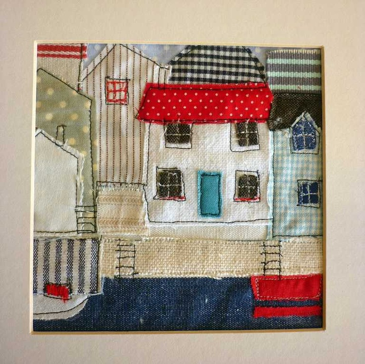 stitched cottages by kirsty elson