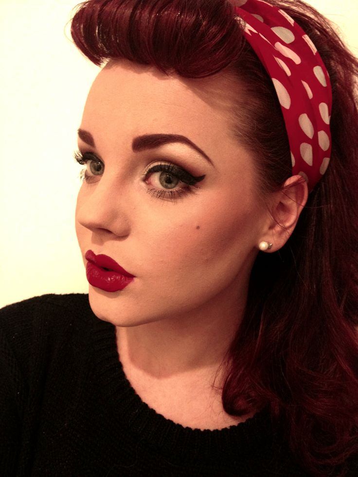 greaser girl makeup this is halloween pinterest retro pin up looks and pin up. Black Bedroom Furniture Sets. Home Design Ideas