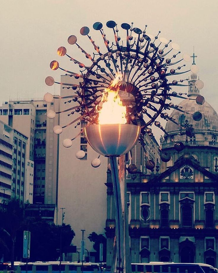 The Olympic flame #riodejaneiro #rio2016 #brazil #travels
