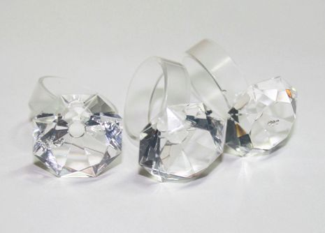 Clear sillimond rings - www.scicche.it
