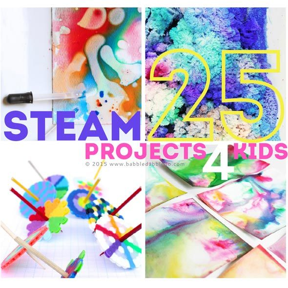 25 STEAM Projects: Science, Tech, Engineering, Art, Math