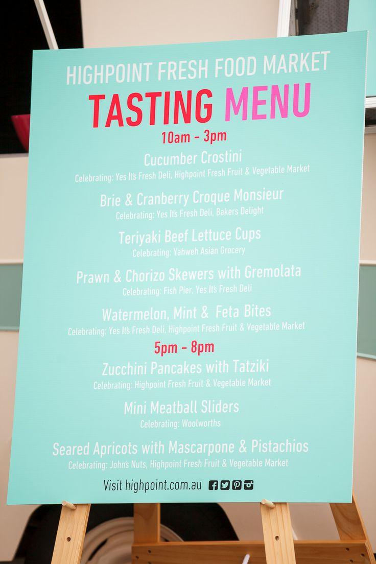 Our Summer tasting menu