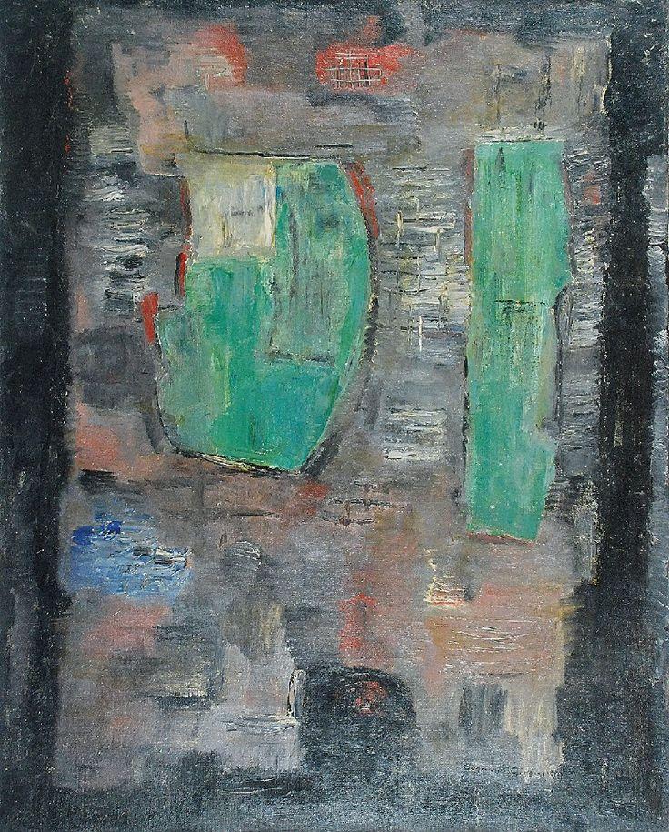 Eugeniusz GEPPERT (1890-1979)  Kompozycja, lata 60. XX w. olej, płótno; 93 x 74 cm;