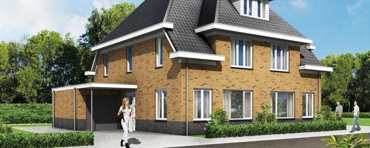 driedimensionale tekening woonhuis....