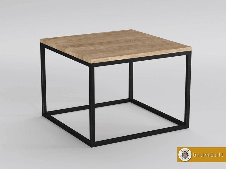 minimalistyczny stolik industrialny