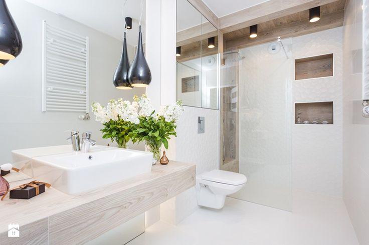 Fabryka Czekolady I, Kraków - Średnia łazienka w domu jednorodzinnym bez okna, styl nowoczesny - zdjęcie od Justyna Lewicka Design
