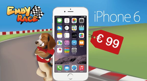Scopri come acquistare un iPhone 6 a soli 99 €! Studia la tua strategia, divertiti e risparmia. Partecipare è gratis! Clicca su www.embyrace.com