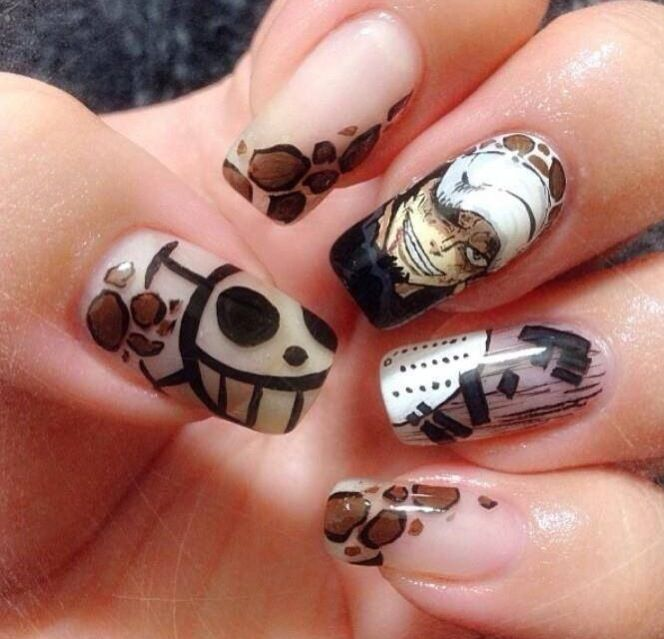 Best 25 anime nails ideas on pinterest sailor moon nails one piece law nail art prinsesfo Gallery
