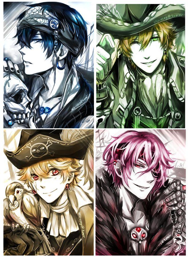 Pirates! ... From evil-usagi ... Free! - Iwatobi Swim Club, haruka nanase, haru nanase, haru, free!, iwatobi, makoto tachibana, makoto, tachibana, nagisa hazuki, nagisa, hazuki, nanase, rin, rin matsuoka, matsuoka