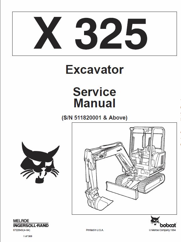 Bobcat X325 and X328 Excavator Operating, Electric