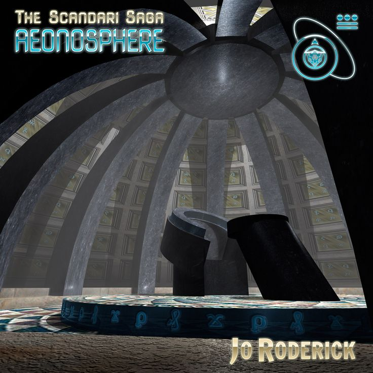 The Scandari Saga Book I - Aeonosphere. A 3D render from a low angle of the throne and pedestal in the Aeonosphere.