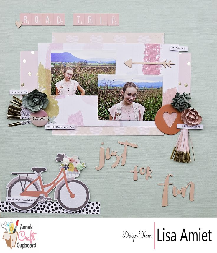 Anna's Jan '17 kit is now available through the Anna's Store http://www.annascraftcupboard.com.au/store/annas-kits-c-4293/. Lisa @leesyjsnaps has applied her creative talents on our latest kit and WOW! She has delivered with 3 beautiful layouts and a card. This is her second layout titled 'Just for fun'. Visit our blog for more information http://www.annascraftcupboard.com.au/blog/kit/2017-january-kit-lisa-amiet/ #scrapbooking #annaskits #annascraftcupboard #scrapbookinglayout #annasdtmember