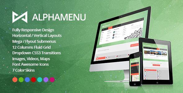 AlphaMenu Responsive jQuery Mega Menu - http://www.codegrape.com/item/alphamenu-responsive-jquery-mega-menu/5220