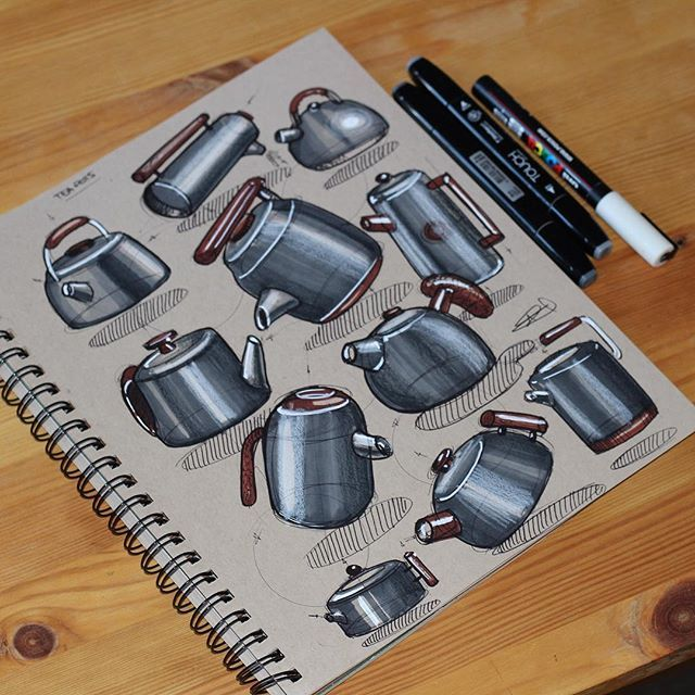 Teapots.  #industrialdesign #idsketching #id #productdesign #design #designer #diseño  #teapot #tea