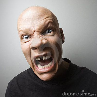 Stock Photo about Screaming man.