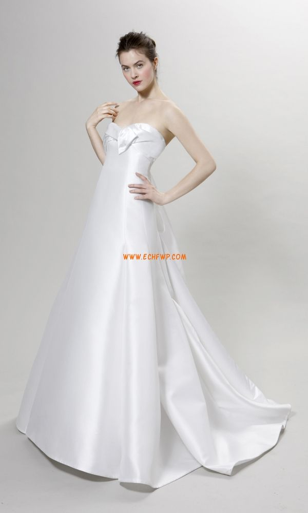 A-line Triangle inversé Zip Robes de mariée 2014