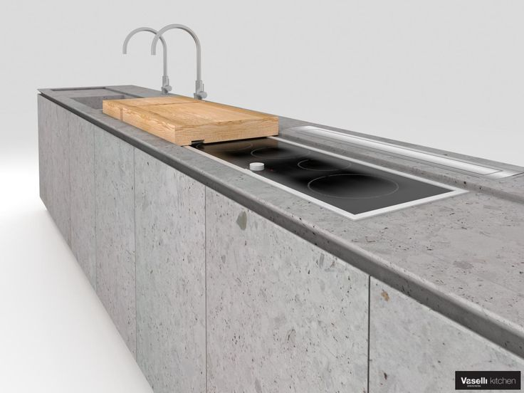 3D model of Vaselli Kitchen in Ceppo di Grè stone. - http://www.vaselli.com/en/planning/design-support