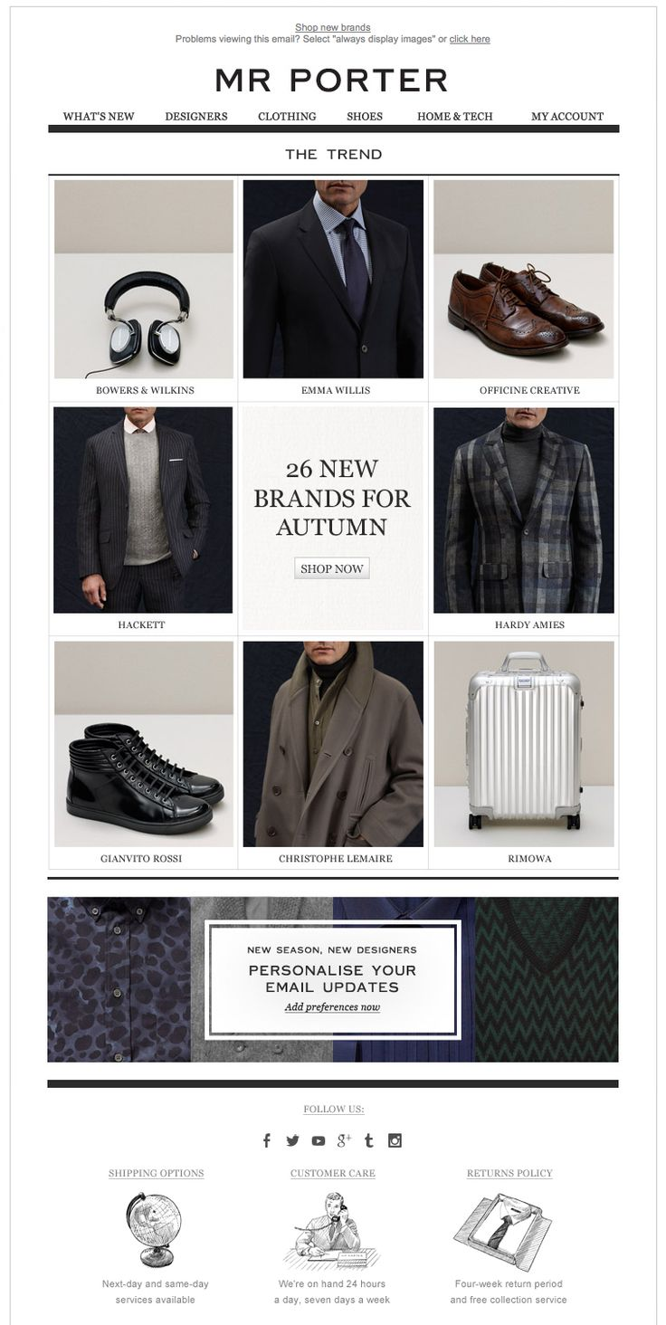 Mr Porter newsletter