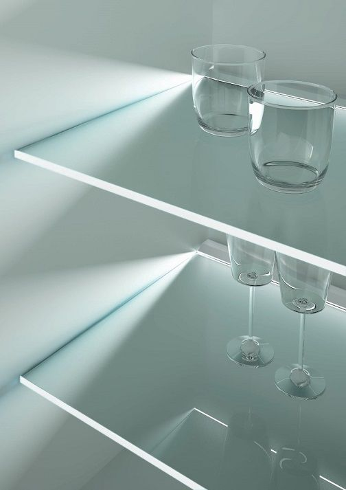 Toucan from DOMUS Line   a plastic LED lighting profile designed for glass  shelving  Applied to frosted glass shelves  Toucan creates a diffused  lighting  22 best Designer LED Lighting Profiles from DOMUS Line images on  . Glass Shelf Lighting. Home Design Ideas