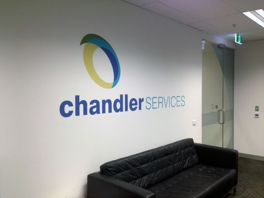 Chandler Services in Melbourne recently got in touch with Wallcreations – their brief was simple, they wanted a decal of their logo for the reception area in their office. They provided their logo, and we took care of the rest!