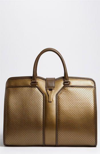 Yves Saint Laurent \u0026#39;Cabas Chyc - Large\u0026#39; Leather Satchel | The ...
