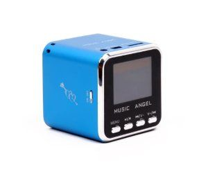 Music Angel mini speaker fm radio LED Screen for IPOD Iphone MD08 BLUE by I MUSIC ANGEL. $16.50. Black Music Angel Mini speaker Box with Screen Features: Deemed as perfect combination of classic and modern performance, and it is praised as masterwork of audio boxes New mini aluminum vibration film loud speaker which has clear alt and pure woof, the unique design makes tome performance perfect Use at anywhere you like Mini audio box with new concept integral stereo portable...