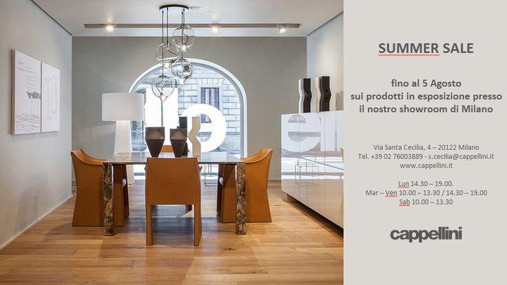 Presso lo showroomCappellini di Milano, in Via Santa Cecilia, un mese di sconti su tutti i prodotti in esposizione. Se siete curiosi di vedere come nascono i loro prodotti, vi segnalo la sezione d…