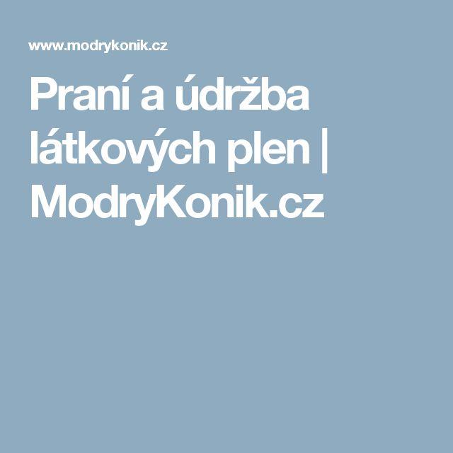 Praní a údržba látkových plen | ModryKonik.cz
