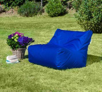Duzzle divanetto sacco imbottito blu outdoor