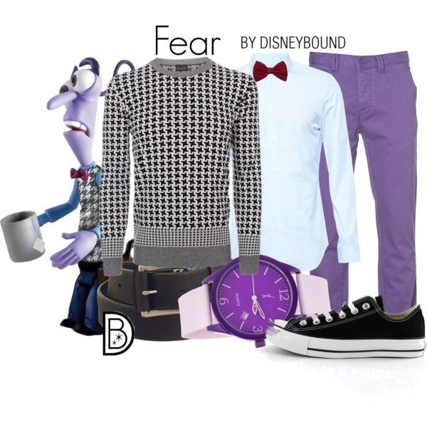 Fear by leslieakay on Polyvore featuring Converse, Maison Margiela, Topman, Wrangler, Disney, disney, disneybound and disneycharacter