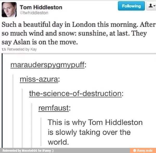 Tom taking over the world