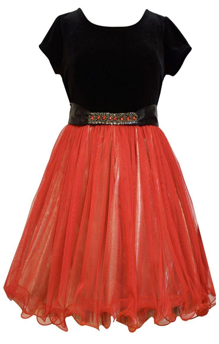Ella Blu Store - Bonnie Jean Big Girls Stretch Velvet to Beaded Waist Red Dress 7-16, $30.00 (http://www.ellablustore.com/bonnie-jean-big-girls-stretch-velvet-to-beaded-waist-red-dress-7-16/)