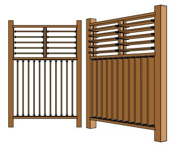 Fully Louvered Fence - 4 ft. Section #flexfence #fence #creative