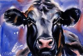 Image result for watercolor art cow