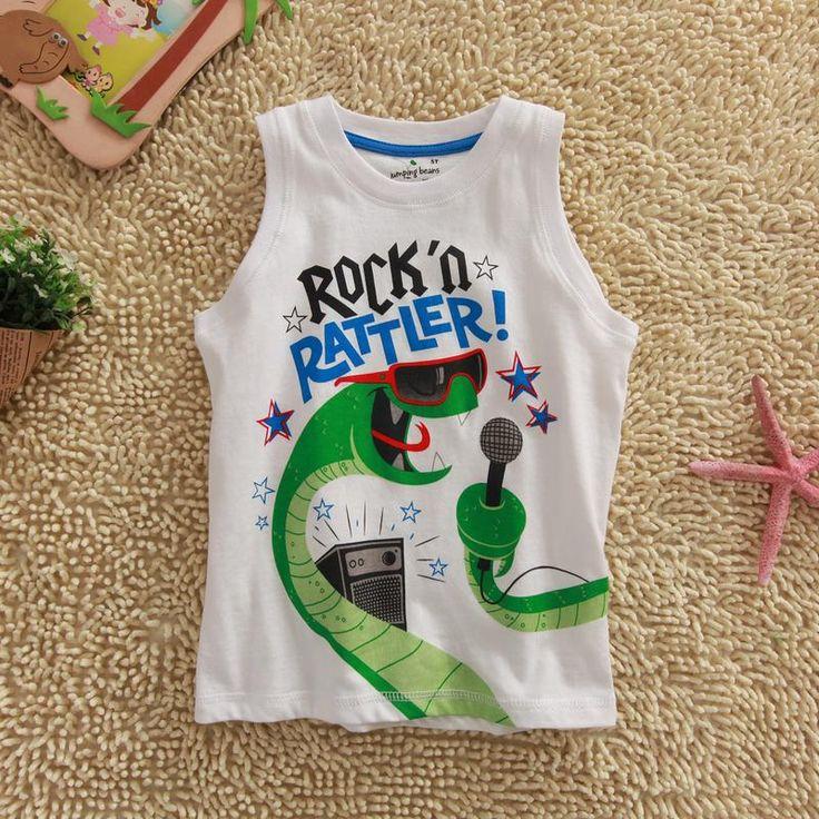 Jumping beans cotton kids baby infants boy short sleeve t-shirt snake rock tee