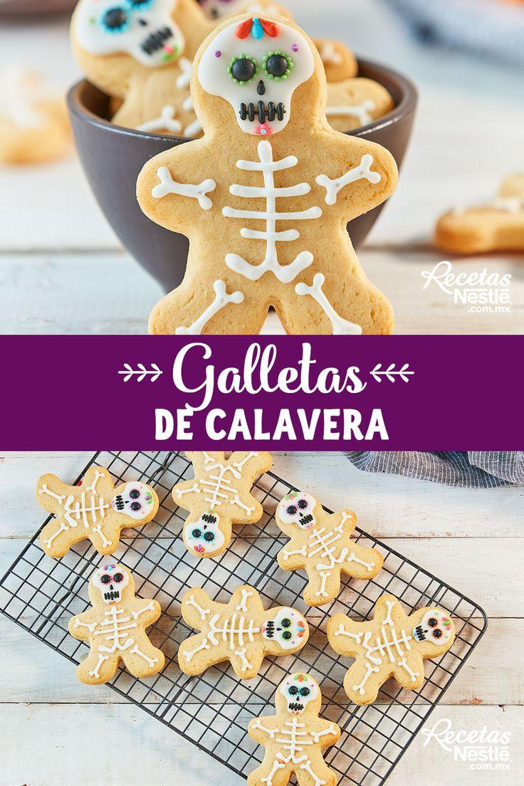 Llleva estas #GALLETAS de #CALAVERA a tu próxima fiesta de #HALLOWEEN Postres Halloween, Halloween Party, Food Network Recipes, Cooking Recipes, Pan Dulce, Gingerbread Cookies, Baking, Breakfast, Desserts