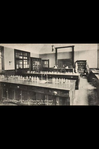 The Chemistty Laboratory at Chester le Street secondary school - Old Chester-le-Street