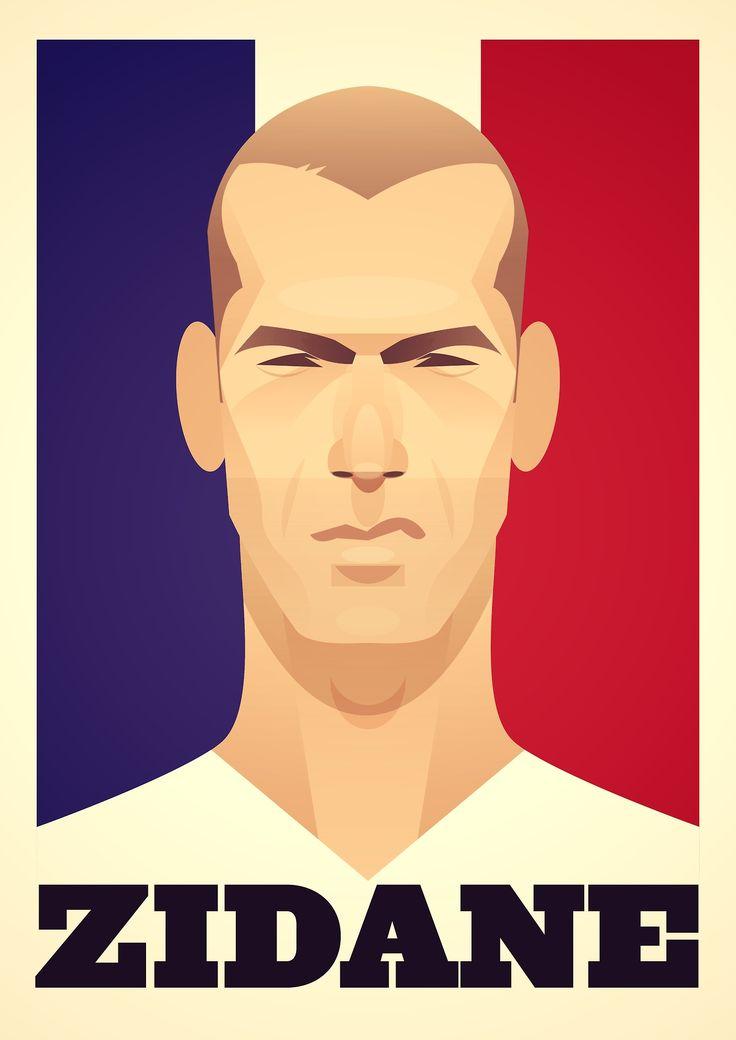 Football Prints : Tableaux de footballeurs dessinés par Stanley Chow