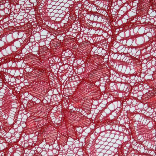 John Kaldor Tocca Lace Fabric. Scarlet.